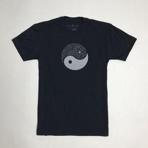 Techy Yin Yang Graphic T-shirt